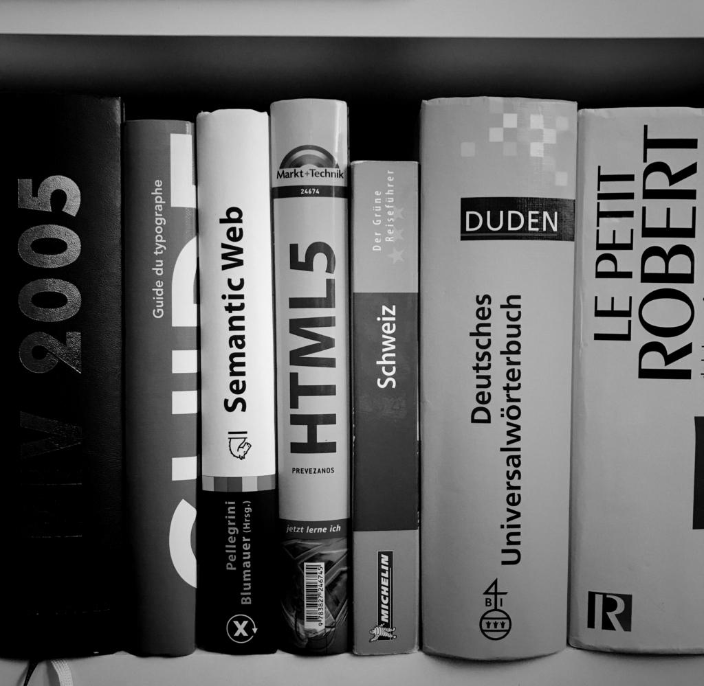 Wörterbücher Deutsch, Französisch, usw.